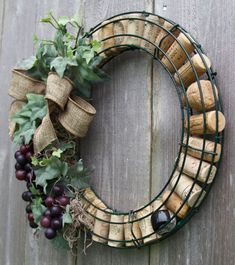 decorations goodsgn wreath flower ideas best wine cork your home diy for 15 15 Best DIY Wine Cork Flower Wreath Ideas For Your Home Decorations GooDSGNYou can find Wine corks and more on our website Wine Cork Wreath, Wine Cork Ornaments, Wine Cork Art, Christmas Ornaments, Snowman Ornaments, Christmas Music, Felt Christmas, Christmas Crafts, Wine Craft
