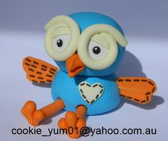 1 edible 3D HOOT from GIGGLE & HOOT owl cake decoration topper gumpaste sugarcraft birthday wedding anniversary engagement kids character by cookiecookieyumyum on Etsy