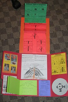 Volcanoes ~ Lapbook - 1 Plus 1 Plus 1 Equals 1 Volcano Science Projects, Science Fair Projects, Science Lessons, Teaching Science, Science Education, Science Activities, Science Experiments, School Projects, Kindergarten Activities