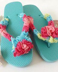 Maggie's Crochet · Aqua Flip Flop - Free Crochet Pattern