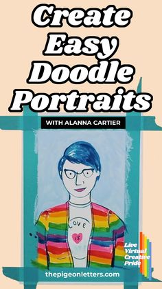 If you're looking for a way to really break into the drawing world, self portraits are a great way to get started! Whether you're a beginner OR someone looking to test their skills, this self-portrait tutorial is for you! Follow along step-by-step and get to doodling! Simple Doodles, Art Tutorials, Find Art, Hand Lettering, Self, Portraits, Graphic Design, Adventure, Learning