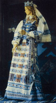 Lithuanian dress of Vilnius region. - This is Lithuanian, not Finnish, but something like this would work well on Independence day.