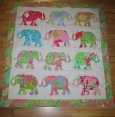 Made to order Elephant Parade Quilt made with by shellylisser