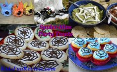 The Amazing Spider-man Spider-y party treats and food ideas.