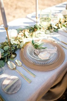 Grey and greenery wedding decor - Sparrow and Gold Photography