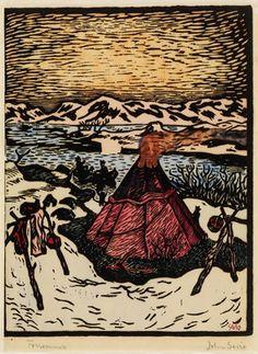 John Savio, «Forsommer» Rhythmic Pattern, Engraving Art, Scandinavian Folk Art, Indigenous Art, Japanese Artists, Woodblock Print, Book Art, Art Projects, Drawings