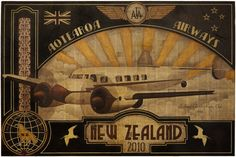 'Aotearoa Airways' by Sandy Rodgers - matted giclee print Maori Art, Giclee Print, Artists, Sculpture, Visual Arts, 1, Paintings, Inspiration, Country
