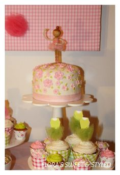 Ballerina Birthday Party Cake #ballerina #cake