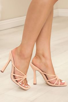 Available In Orange, Nude, And Black Heeled Mules Square Toe 5 Inch Stiletto Imported | Dreaming Of Italy Mules Heel Shoes in Nude size 8 by Fashion Nova Gold High Heel Sandals, Heeled Mules Sandals, Shoes Heels, Fashion Heels, Sneakers Fashion, Beautiful High Heels, Sexy Toes, Women's Feet, Girls Wear