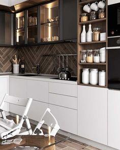 modern luxury kitchen design ideas that will inspire you 5 Kitchen Room Design, Kitchen Dinning, Kitchen Sets, Modern Kitchen Design, Home Decor Kitchen, Interior Design Kitchen, Kitchen Furniture, Home Kitchens, Dining