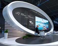 victor kolobov on Behance Exhibition Stall, Exhibition Stand Design, Stage Design, Set Design, Kiosk Design, Stage Set, Futuristic Design, Tv Decor, Event Marketing