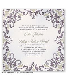 Royal Impression Letterpress Wedding Invitation by David's Bridal.