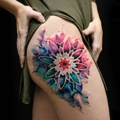 Mandala flower tattoos - 50 of the Most Beautiful Mandala Tattoo Designs for Your Body & Soul – Mandala flower tattoos Pretty Tattoos, Sexy Tattoos, Beautiful Tattoos, Body Art Tattoos, Sleeve Tattoos, Tattoos For Women, Tattos, Awesome Tattoos, Beautiful Body