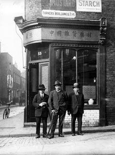Three Gentlemen at Limehouse Chinatown, London, date unknown.