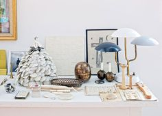 collection ensemble on the side table