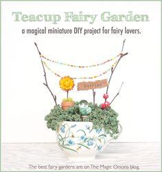 A Fairy Garden in a Tea Cup :: A Miniature DIY Tutorial