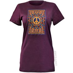 Peace Mandala Womens T Shirt on Sale for $19.95 at The Hippie Shop
