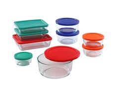 World Kitchen Pyrex 18-Piece Food Storage Plus Colored Lid Set