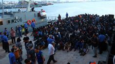 Some 10,000 migrants rescued off Libya coast in 4 days   By AFP            Illegal immigrants, who were rescued by the Libyan coastguard i...