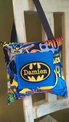 for Jackman if he's still a fan of the batman when the teeth come out. Batman Tooth Fairy Pillow. $14.99, via Etsy.