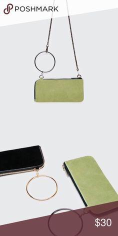 💚ZARA CROSSBODY WALLET💚 Split suede crossbody wallet bag  Features six card slots, single top handle, detachable chain shoulder strap and lined interior💚 Zara Bags