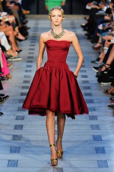 Zac Posen Spring 2012, Little Red Dress