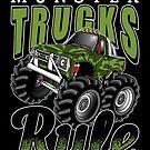 Monster Trucks Rule by teebazaar Big Trucks, Cool T Shirts, Monster Trucks, Hoodies, Shopping, Sweatshirts, Parka, Hoodie, Hooded Sweatshirts