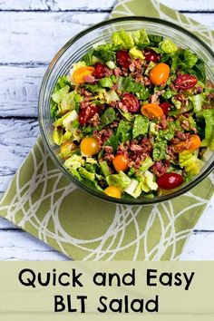 Quick and Easy BLT Salad and (Low-Carb, Paleo, Gluten-Free)