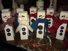 large clothespin snowmen