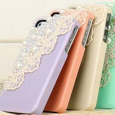 Pearl and lace iPhone cases! In case I ever get an iPhone Ipod Cases, Cute Phone Cases, Iphone Case, Iphone Phone, Vw Minibus, Tablet, Pearl And Lace, Look Vintage, Vintage Lace
