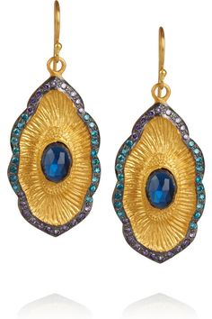 Kevia Gold-plated multistone earrings