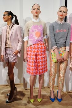 "J.Crew Spring 2013.    I want the sweater that reads ""darling""."