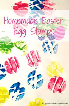 Looking for an affordable and easy Easter craft for all ages?  Try our Homemade Easter egg stamps!
