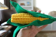 Free sewing tutorial for felt corn by While Wearing Heels