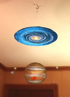 AstroCrafts: Jupiter and Moons Hanging Mobile Uranus Planet, Jupiter Planet, Jupiter Moons, Moon Projects, Projects For Kids, Project Ideas, Art Projects, Cool Science Experiments, Science Fair