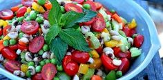 Black Eyed Pea and Tomato Salad