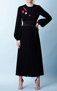 Racil Iman Mid Calf Long Sleeve Crepe Dress $925