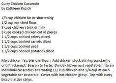 Curry Chicken Casserole by Kathleen Ruzich