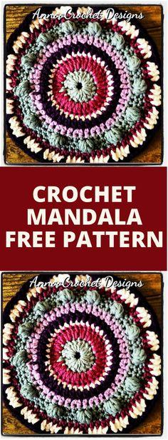 60+ Free Crochet Mandala Patterns - Page 4 of 12 - DIY & Crafts