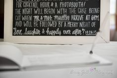 Personalized chalkboard | Program | Made by Lauren Heim Weddings & Events / Wedding Photography | Stacey Zoll Photography / Kansas