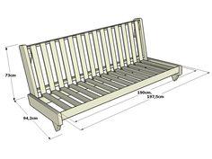 Futon sofá-cama Fresh La estructura del futon sofá-cama del futon sofá-cama Fresh está completamente realizada en madera maciza de pino escandinavo. Madera de origen y con legislación Europea. Resu…