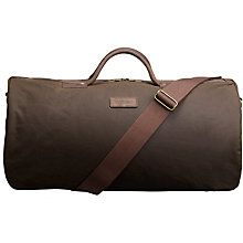 d16fa270cc0 Buy Barbour Wax Cotton Holdall, Olive Online at johnlewis.com Barbour Wax,  John