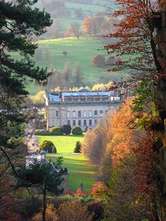 View Towards Chatsworth House, From Cascade Waterfall