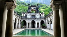 Parque Lage Mansion in Rio de Janeiro Brazil.