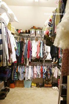 the family closet - The Handmade Home Linen Closet Organization, Home Organization Hacks, Kitchen Organization, Storage Closets, Household Organization, Garage Storage, Organizing Ideas, Bathroom Storage, Family Closet