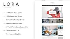 Lora - Clean and Personal WordPress Blog Theme - Themes & Templates