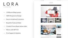Lora - Clean and Personal WordPress Blog Theme - Themes & Templates Wordpress Theme Design, Premium Wordpress Themes, Blog Layout, Themes Themes, Website Themes, Wordpress Template, Website Template, Templates, Stencils