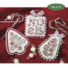 Christmas Candy Ornaments - Cross Stitch, Needlepoint, Embroidery Kits – Tools and Supplies