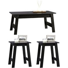 Sauder Beginnings 3 Piece Coffee and End Tables Value Bundle, Black - one for living room, one for each of our rooms? just a thought