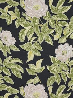 Schumacher Fabric - Manor Rose - Nightfall - Price Per Yard: $120.25 #homedecor #floral